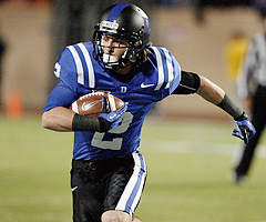 Senior wide receiver Conner Vernon has recorded three straight 70-catch seasons for Duke.