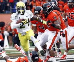 Oregon RB Kenjon Barner can prove that his success is not just the product of the Ducks' quirky system.