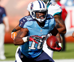 Tennessee Titans wide receiver Kenny Britt is being sought for questioning about a stabbing incident involving a man police said was his brother. (Paul Spinelli/Associated Press)