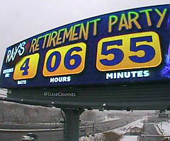 A billboard in Boston counts down to Ray Lewis' 