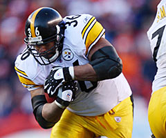 Jerome Bettis had eight 1,000-yard rushing seasons in his 13-year career.