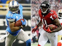 Who has more fantasy football auction value Julio Jones or Calvin Johnson