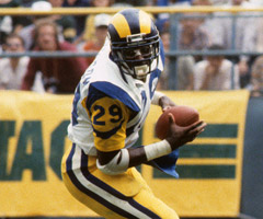 Eric Dickerson rushed for a combined 32 touchdowns in his first two NFL seasons.