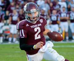 More than 900 of Johnny Manziel's 1,410 rushing yards last season came on improvisational runs.