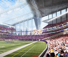 An inside look at the Minnesota Vikings' new stadium.