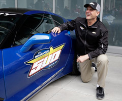 San Francisco 49ers coach Jim Harbaugh drove the pace car during Sunday's Indianapolis 500.