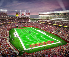Levi's has applied for two trademarks pertaining to the 49ers' new stadium.