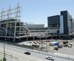 Construction for the new San Francisco 49ers football stadium is shown in Santa Clara, Calif.
