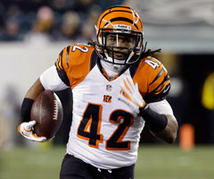 The addition of rookie Giovani Bernard will mean fewer touches for BenJarvus Green-Ellis this season.