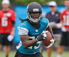 Denard Robinson was drafted as a wide receiver, but he'll be used at running back in Jacksonville.