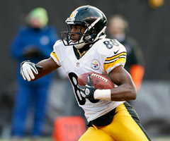 Emmanuel Sanders is the favorite to start opposite Antonio Brown for the Pittsburgh Steelers in 2013.