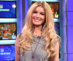 Supermodel Marisa Miller visits the NFL Network studios in Culver City, Calif. This angel's love for the 49ers is no secret.
