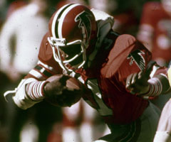 William Andrews was a powerful and versatile tailback for the Atlanta Falcons until a knee injury ended his career. (National Football League)