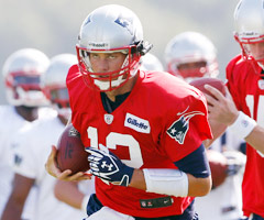 New England Patriots quarterbacks, including Tom Brady, have been wearing cameras on their helmets during training camp.