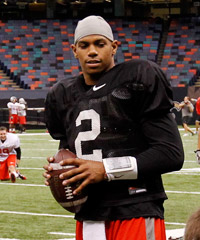 Terrelle Pryor wearing his No. 2 jersey with the Oakland Raiders. Gerald Herbert/Associated Press