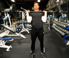 Steve Weatherford transformed a good physique into a lean, extremely strong, freak of an athlete.