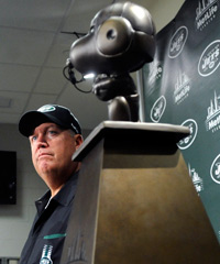 The Snoopy Trophy has become a symbol of Rex Ryan's haphazard management of Mark Sanchez.