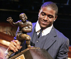 Reggie Bush had to forfeit his Heisman Trophy in the wake of NCAA violations.