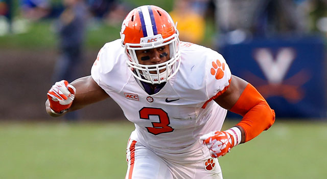 competitive price 2fbc8 d0cac Clemson coach suggests Vic Beasley should put off NFL draft ...