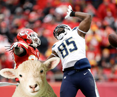 Antonio Gates struggled to get it going against the Kansas City Chiefs' secondary, even while the rest of his San Diego Chargers teammates lit up the scoreboard and stat sheets like it was a game of