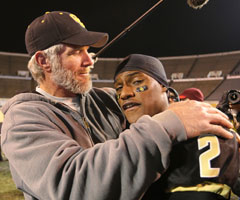 Brett Favre helped lead Oak Grove High School to its first Mississippi state championship as the team's offensive coordinator. (Associated Press/Mississippi High School Activities Association, Keith Warren)