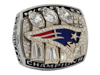 Matt Estrella's Super Bowl XXXIX ring was sold for $15,810 after 21 total bids. (Goldin Auctions)