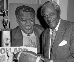 Fritz Pollard was elected to the Pro Football Hall of Fame in 2005.