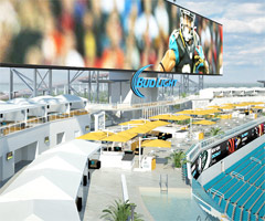 The Jaguars will have 10 spa-side cabanas for home games this season. (Jacksonville Jaguars)