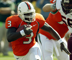 Although he flashed spectacular talent at Miami, Frank Gore's college career was marred by a pair of torn ACLs.