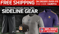 Sideline gear -- Free shipping over $75