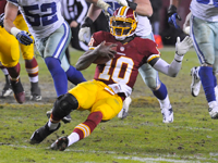 Robert Griffin III vows to 'get better' at sliding
