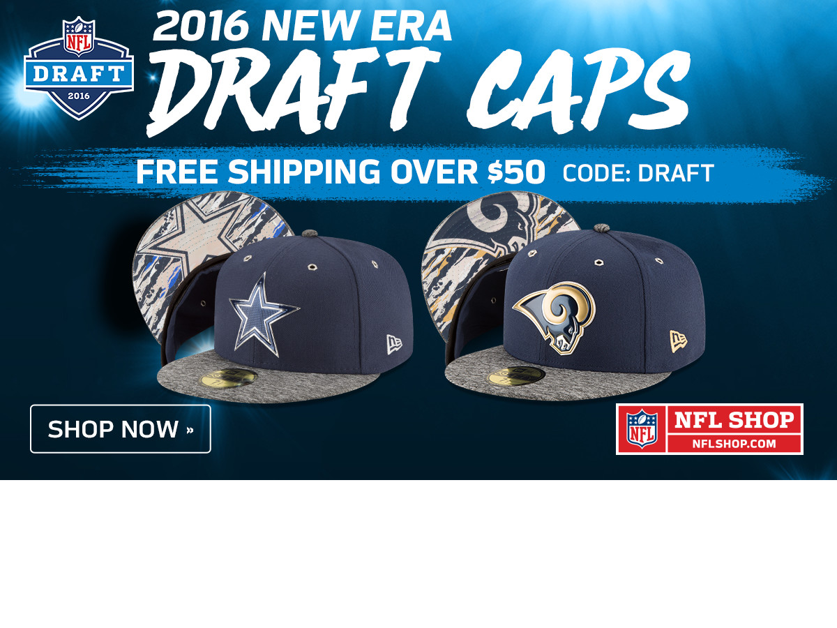 NFL Shop: Draft Caps Free Shipping Over $50