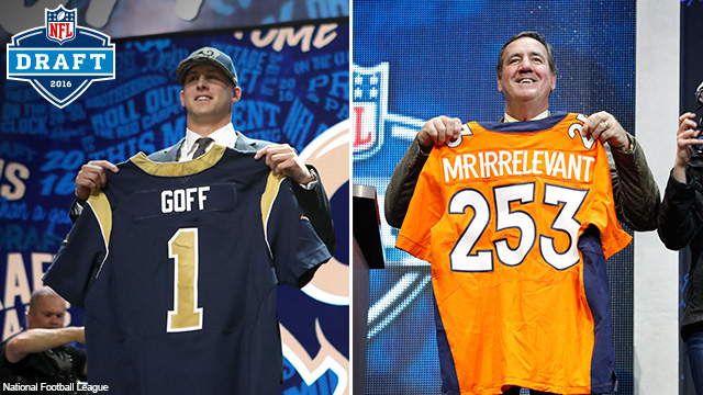 From No. 1 to Mr. Irrelevant