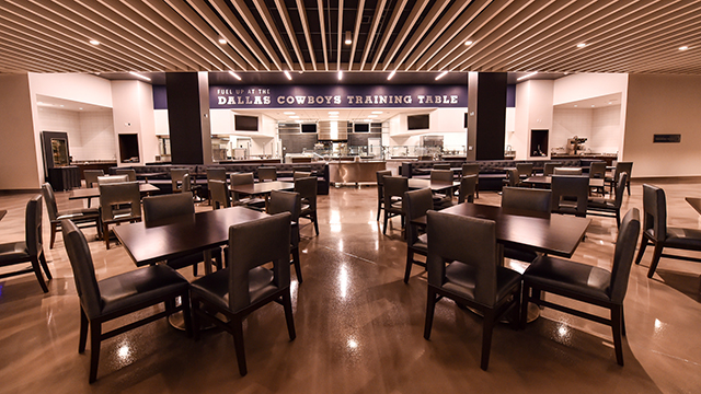 The Star Is Born Cowboys New B Facility Lives Up To Hype NFLcom - Training table restaurant