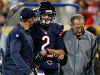 Bears QB Brian Hoyer breaks left arm in loss to Packers