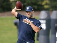 Image: Romo back at practice