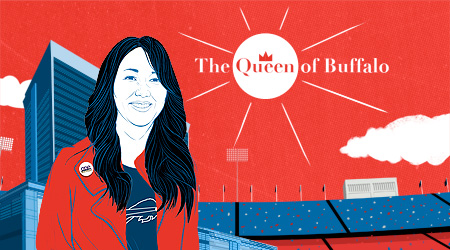 How did Kim Pegula become a guiding light for the Bills and a powerful force for Buffalo? Michael Silver documents her surreal path from an orphanage to NFL owners' meetings.