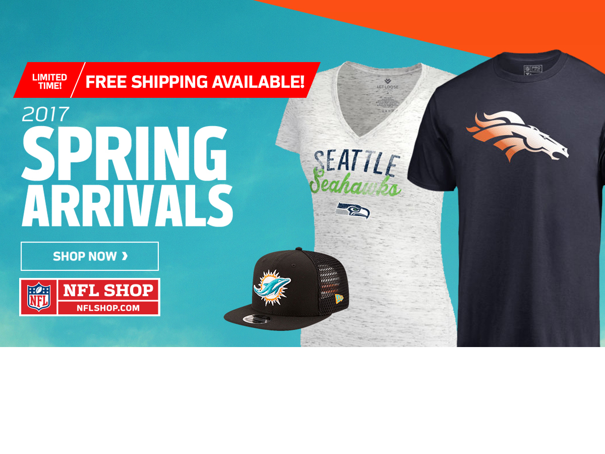 Spring arrivals at the NFL Shop
