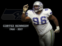 Hall Great Dead Nfl - com Cortez Kennedy 48 At Seahawks Famer Of|New Orleans Saints 3x5 Flag