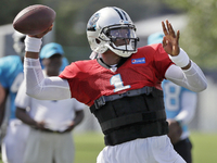 Panthers cautious with Cam, won't play him Saturday