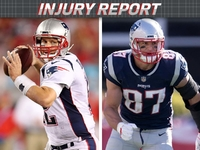 Injuries: Tom Brady, Gronkowski limited for Patriots