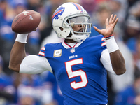 Bills bench Peterman for Tyrod Taylor after 5-INT half