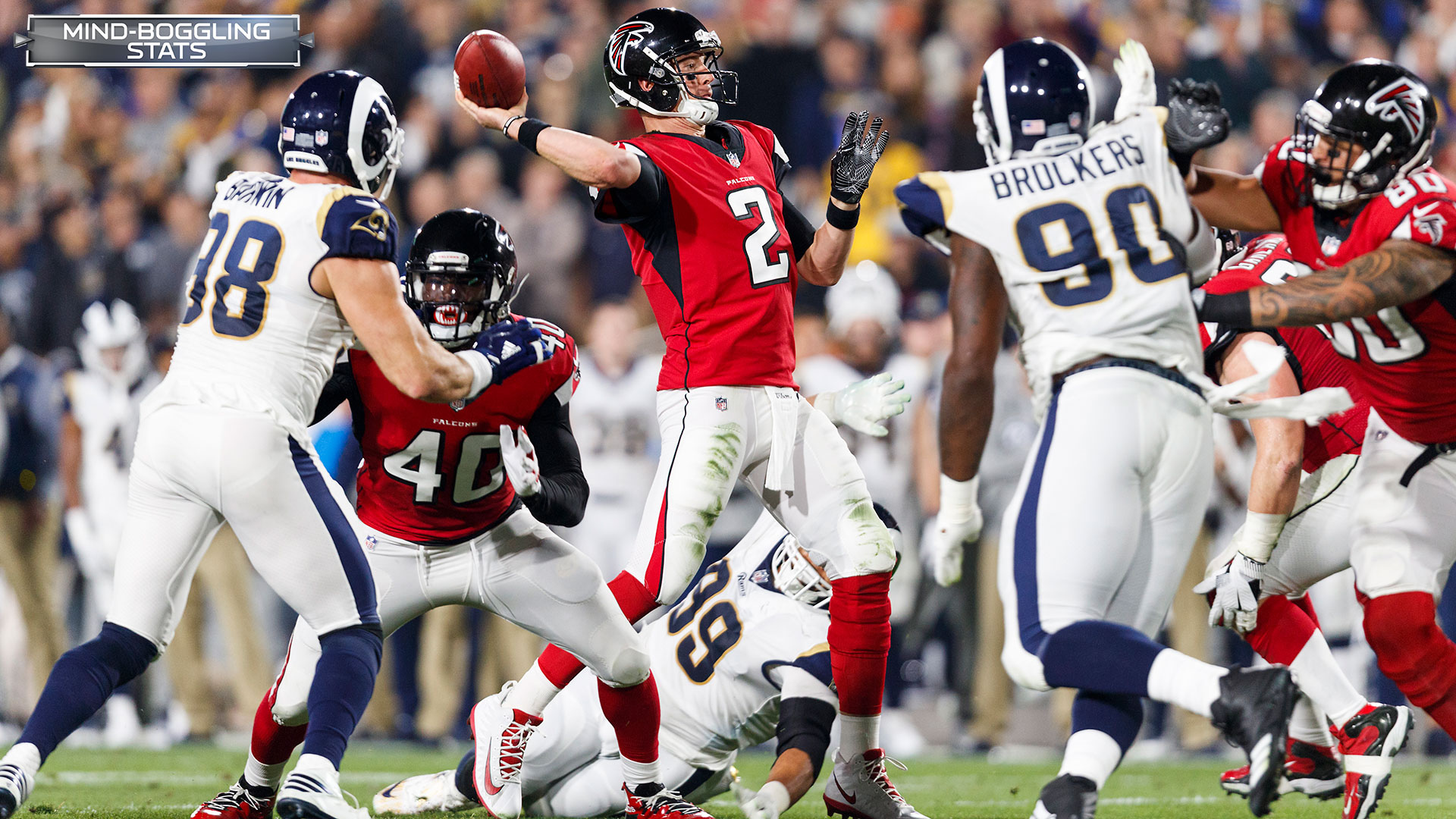 Atlanta Falcons quarterback Matt Ryan (2) throws the football during an NFL football NFC wild card playoff game against the Los Angeles Rams, Saturday, Jan. 6, 2018, in Los Angeles. The Falcons defeated the Rams, 26-13. (Ryan Kang via AP)