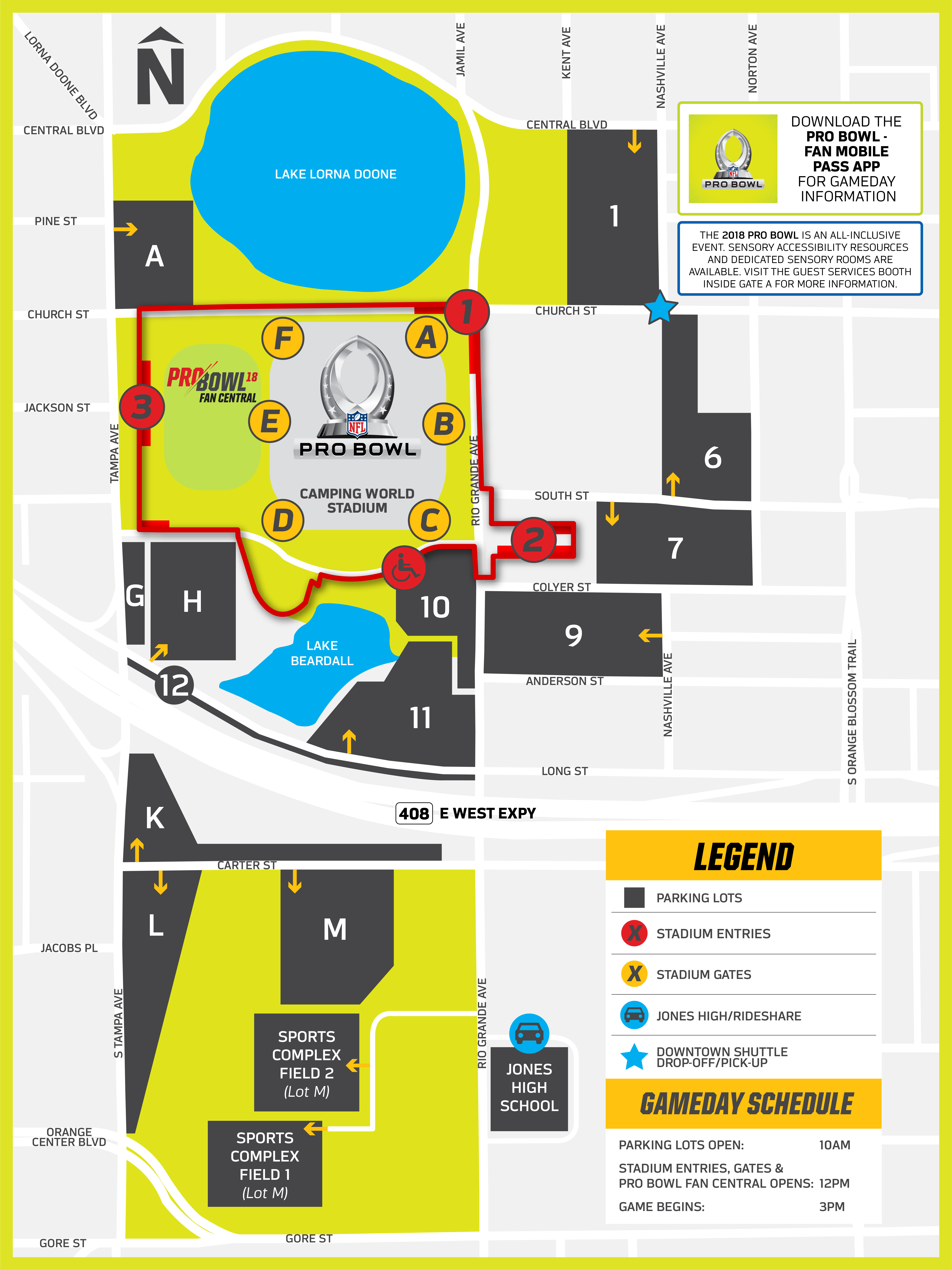 2018 Pro Bowl Gameday Nfl Football Field Diagram For Exclusive Access To Content Register Fan Mobile Pass By Visiting Pbfanmobilepass Download The