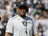 Oakland Raiders defensive coordinator Ken Norton Jr. during the first half of an NFL football game between the Raiders and the Baltimore Ravens in Oakland, Calif., Sunday, Oct. 8, 2017. (AP Photo/Jeff Chiu)