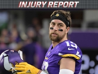 Injuries: Adam Thielen (back) questionable vs. Eagles