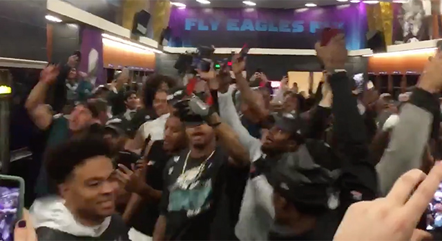 Eagles fans flip auto over