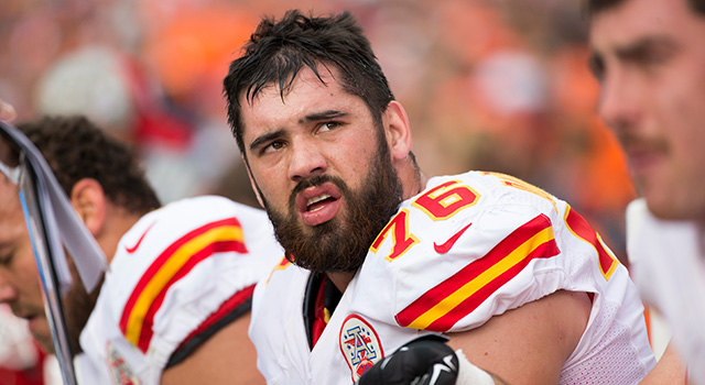 A sixth-round pick in 2014, Laurent Duvernay-Tardif has started for the Chiefs since 2015. (Greg Trott via AP)