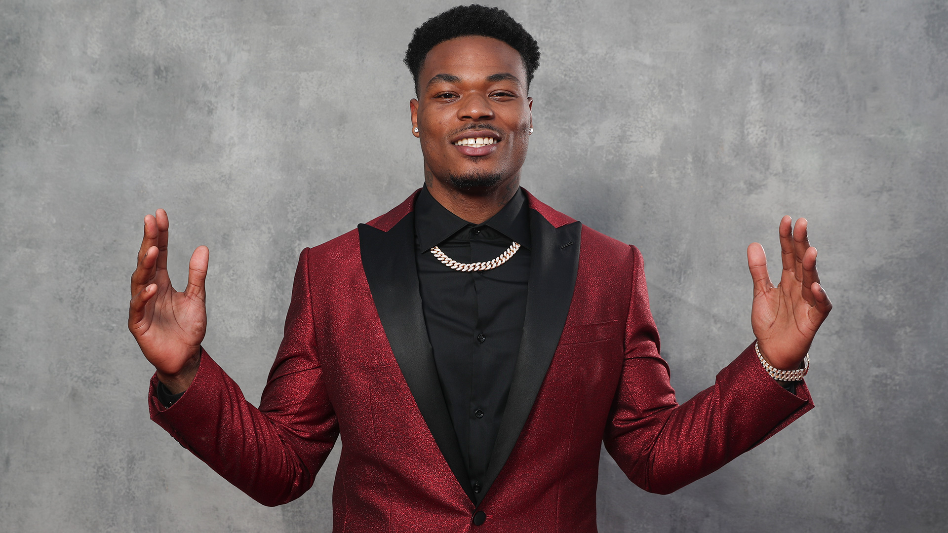 Florida State safety Derwin James on the red carpet during the 2018 NFL Draft on Thursday, April 26, 2018 in Arlington, Texas. (Ben Liebenberg via AP)