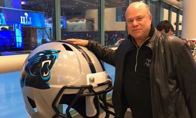 David Tepper attending Super Bowl LII in Minneapolis.